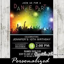 Dance Invitation Ideas Dance Party Invitations Disco Bokeh Lights Cupcakemakeover