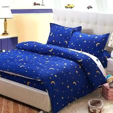 cartoon moon stars bedding sets polyester fitted sheet pillowcase for children