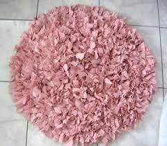 hand crochet rag rug pink round handmade gy uk tutorial