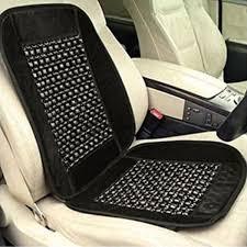sdwav car wooden bead seat cushion with grey velvet border