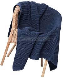 Дизайнерские <b>пледы синие</b> меланж из акрила INFINITI ...