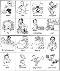 sheet for teaching basic verbs verb card games beginner esl efl esl verb cards actions for beginner gesture game