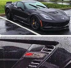 2015 corvette black. Perfect 2015 PIC A Black 2015 Corvette Z06 In The Wet With R
