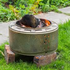 Diy portable fire pit Movable Washing Machine Drum Fire Pit The Family Handyman 14 Amazing Portable Fire Pits The Family Handyman