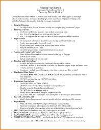High School Resume 650838 High School Resume Outline High School
