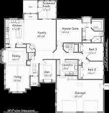 main floor plan for 10163 one story house plans ranch house plans 3 bedroom