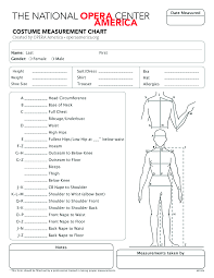 Costume Measurement Sheet Template Costume Measurement Template Magdalene Project Org