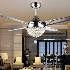 amazing ceiling fan chandelier modern design practical with crystal inspirations 16