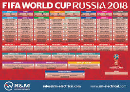 World Cup Planner Chart 2018 Fifa World Cup 2018 Wall Planner R M Electrical Groiup Ltd