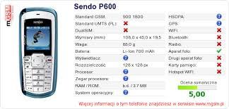 Twojej stronie Sendo P600 :: mGSM ...