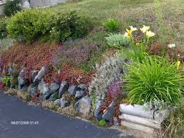 retaining wall rock garden beauty