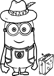 Small Picture Minions Going Travel Coloring Page Wecoloringpage