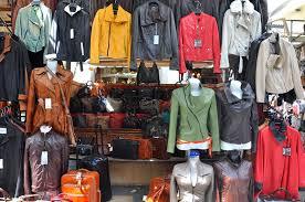 ping at san lorenzo leather market florence italy