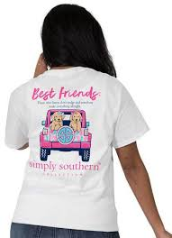 Simply Southern Sherpa Size Chart Simply Southern Best Friends T Shirt Preppy Tee For Women In