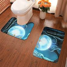 2 Piece Bathroom Rug Set Witch Cat <b>Dreamcatcher</b> Witches Tonic ...