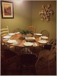 diy reclaimed wood round dining table