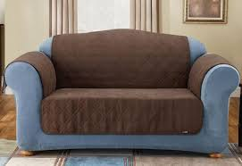 cover furniture. Faux Suede Quilted Sofa Furniture Cover C