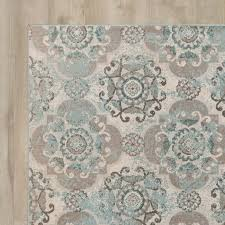 excellent design gray and teal area rug 0