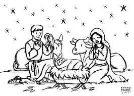 Afbeeldingsresultaat Voor Kerststal Kleurplaat Kindjes Kerstmis