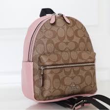 Coach F58315 Mini Charlie Signature Backpack Bag