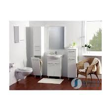 bathroom laundry hamper cabinett gloss white marea