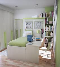 Decorating Photos Of Kids Room Layout For Limited Space Filled Twin Bed  With Desk Idea Plus Corner Wall Bookshelf Design G