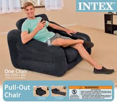 Intex inflatable lounge chair Splash Intex Inflatable Pullout Chair Twin Bed Air Mattress Inflatable Lounge Chair Mrspinco Intex Inflatable Pullout Chair Twin Bed Air Mattress Inflatable