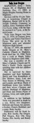 Twila Payne Oregon Obituary - Newspapers.com
