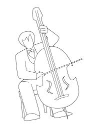 Kids N Fun Kleurplaat Muziekinstrumenten Cello