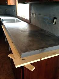 diy pour in place concrete countertops build concrete concrete kitchen