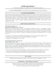 Personal Resume Sample Banker Sample Resume Personal Banker