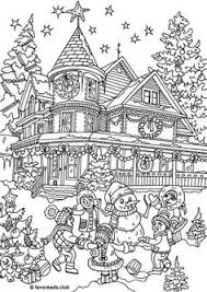 christmas house coloring pages.  Christmas Christmas House Coloring Pages And _