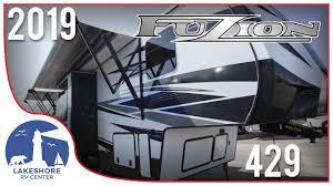 2019 keystone fuzion 429 5th wheel toy hauler rv lakes rv center