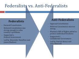 Anti Federalists Vs Federalists Venn Diagram Sada