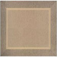 recife stria texture natural coffee 9 ft x 9 ft square indoor