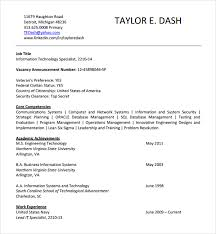 sample it cv template     free documents download in word  pdfinformation technology cv template