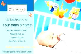 Sample Baby Announcement Boy Birth Announcement Template Baby Boy Birth Announcement Sample