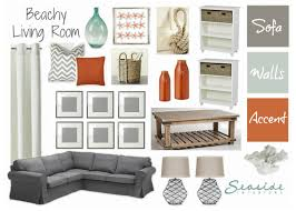 Seaside Bedroom Accessories Seaside Interiors Decor Beachy Living Room With Greys And Orange