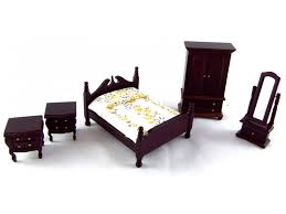 victorian bedroom furniture. Discontinued Permanently Dolls House 1:24 Scale Miniature Dark Oak Wooden Victorian Bedroom Furniture Set
