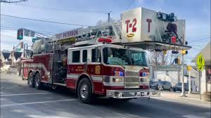 west paterson nj fire department car 12 truck 2 and engine 1 responding on mcbride ave