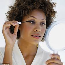 cosmopolitan remend applying eyeshadow and eyeliner before you put on your mascara to cover up any