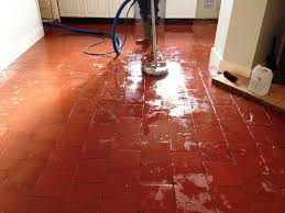 Red Floor Tiles Kitchen Sealing Quarry Tiled Floors Cleaning And Sealing