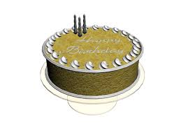Fancy Birthday Cake 3d Model 3dsmax Files Free Download Modeling