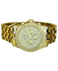 mens grand master real diamond watches for mens diamond watch ice time gold tone storm 48m