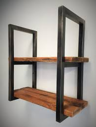 Steel Shelf Design Reclaimed Wood And Steel Shelves Small Projects In 2019