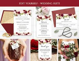 wedding invite template download wedding invitation template wedding invitation suite marsala