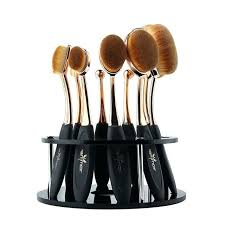 oval makeup brushes with brush stand container diy