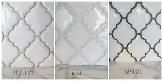 Light Gray Tile With Dark Gray Grout Arabesque White Tile With Grey Grout Google Search