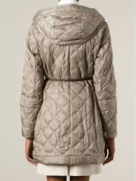 Lyst - Max mara Padded Coat in Natural & Gallery Adamdwight.com