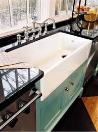large kitchen sink. 5 Tips On Buying Farmhouse Sink | By Elle Pinterest Concrete Countertops, Countertops And Sinks Large Kitchen A